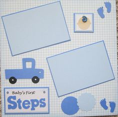 Baby Boy Cricut Premade Scrapbooking Page 1 page by mesa219815, $4.99