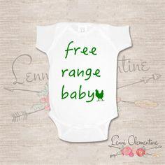 Free Range Baby Bodysuit. Free Range Baby Onesie. Free Range Baby Clothes. Hippie Baby Clothes. Hipster Baby Clothes. County Baby Onesie. Country Baby. Hippie Baby by LenniClementine