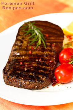Delicious and easy sirloin steak for the Foreman Grill.