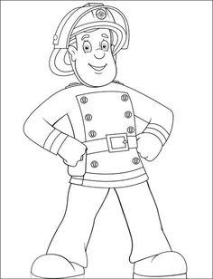 Malvorlage Feuerwehrmann Sam