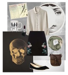 """Strange Circumstance"" by niavmealone on Polyvore featuring Moleskine, Katie Leamon, Fornasetti, Fiesta, Acne Studios, Dorothy Perkins, Bohemia, Jimmy Choo, MAC Cosmetics and DUBARRY"