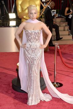 lady gaga versace oscars 2014