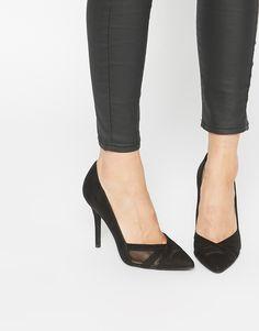2f5ce2a9210f56 Image 1 - New Look - Escarpins avec empiècements en tulle Escarpins,  Chaussures Femme,