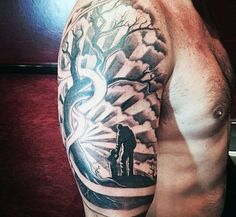 Top 50 Best Father Son Tattoos For Men - Manly Design Ideas Cool Father And Son Themed Tattoo For Men Baby Tattoo For Dads, Rip Tattoos For Dad, Father Tattoos, Tattoos With Kids Names, Tattoo For Son, Family Tattoos, Tattoos For Women, Child Tattoos, Mens Tattoos