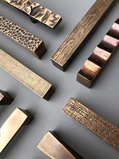 Bronze pull handles by Philip Watts Design #hardware #handle #pullhandle #bronze #door