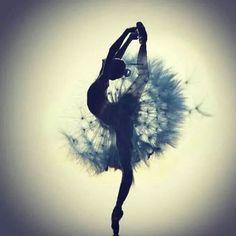 Immagine tramite We Heart It https://weheartit.com/entry/156454668/via/23209988 #ballet #beautiful #dance #dancer #dress #feathers #pointe #shadow #siluette