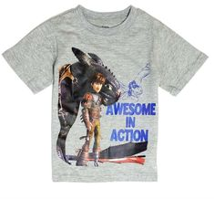 t Tee Shirt Toddler Boys Gray Top Sleeve Graphic How to train your Dragon 2t 3t #DreamworksDragon2 #Everyday