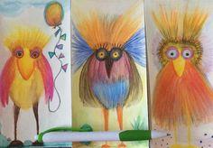 Bird Line Drawing, Bird Doodle, 4th Grade Art, Spring Art, Arts Ed, Elements Of Art, Colorful Drawings, Art Classroom, Art Plastique