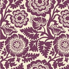 Joel Dewberry - Heirloom - Blockprint Blossom in Amethyst