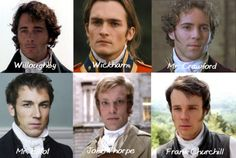 Jane Austen bad boys..... the trend seems to be the sideburns Fortunately, I never liked sideburns...