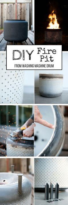 Check out the tutorial on how to make a DIY repurposed washing machine drum fire pit @istandarddesign