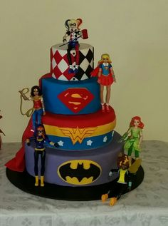 Superhero Dc comics girls Harley quinn Birthday cake