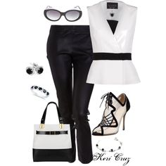 Black & White Sensation by keri-cruz on Polyvore