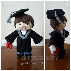 Amigurumi graduation doll
