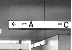 Hall at Schiphol Airport (signage Benno Wissing)