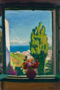 Albert Marquet (French, Marquet was a French painter, associated with the Fauvist movement. He initially became one of the Fauve painters and a lifelong friend of Henri Matisse Henri Matisse, Art And Illustration, Illustrations, Piet Mondrian, Window Art, Oeuvre D'art, Monet, Impressionism, Art History