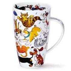 Dunoon Henley Raining Cats and Dogs Mug > Dunoon Mugs > British Isles