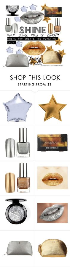 """""""METALLIC SHINE"""" by lizziez-style ❤ liked on Polyvore featuring beauty, Meri Meri, Smashbox, Chanel and Tory Burch"""