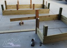 Sectional Keyhole Raised Garden Beds - Frame Assembly - Dream Home Improvement Building Raised Garden Beds, Bed Frame, This Is Us, Home Improvement, Diy, Home Decor, Bed Base, Decoration Home, Bricolage