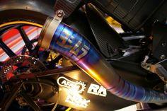 Yoshimura custom Suzuki MotoGP exhaust