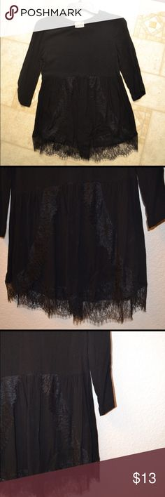 LA hearts Lace peplum top Never used, beautiful lace detailing. Sleeves are 3/4 length LA Hearts Tops