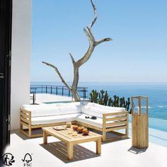 Table de jardin haute avec 4 chaises en aluminium et composite L128 ...