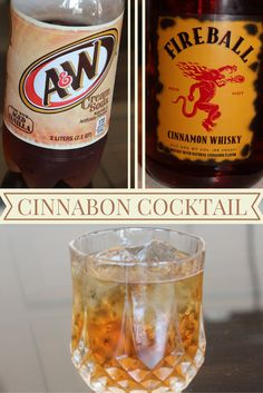 This drink tastes just like a cinnamon roll covered in icing #Fireball #cocktail #cinnabon