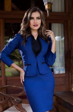 EXECUTIVA - Floratta Modas Business Dresses, Business Outfits, Office Outfits, Work Dresses For Women, Clothes For Women, White Blazer Women, Latest Outfits, Work Attire, Blazers For Women