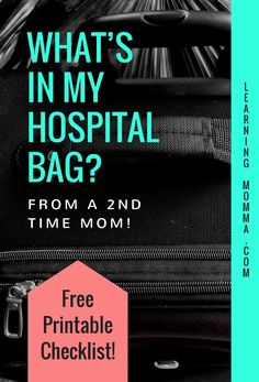 Packing For Labor And Delivery - A Maternity Hospital Bag Checklist | Are you expecting a baby and wondering what to pack in your hospital bag for the birth? Read the details of what I'm packing in my hospital bag for my second delivery and download a free printable checklist! Learn from my mistakes of what I wish I had packed in my hospital bag the first time and make sure you are prepared for the birth of your precious baby. #hospitalbag #hospitalbagchecklist