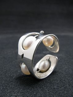 REDUCED PRICE Sterling Silver & White Fresh by ThunderSkyJewelry