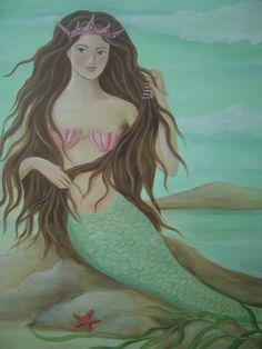 Mermaid Nursery Decor: Mermaid Wall Painting/Mural