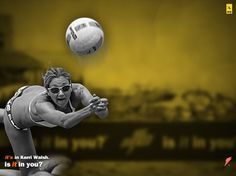 "Kerri Walsh, the American professional beach volleyball player and Olympic gold medallist (with Misty May-Treanor), is one of the Gatorade Pros. She stocks here beach games with Gatorade Tangerine Rain and Fierce Grape. Here's the three wallpapers made available on the Gatorade site. ""It's in Kerri Walsh. Is It in You?"" Gatorade's advertising work is …"