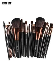 MAANGE 22 Pcs Eye Makeup Brushes Set (Coffee)