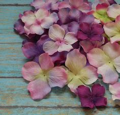 Silk Flowers  50 Silk Hydrangea Blossoms in by BlissfulSilks, $5.29
