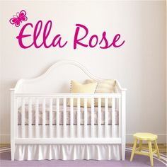 Butterfly Name Wall Art from Next Wall Stickers