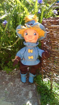 Ручная работа Кукла интерьерная текстильная Страшила !