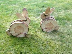 Hasen aus baumscheiben