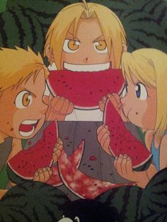 """""""One of my favorites. I like pretty much any picture with watermelon in it.""""-Hiromu Arakawa"""