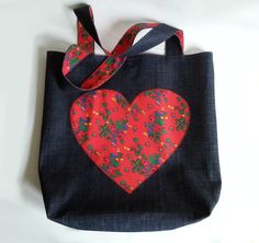 jeansowa torba w stylu folk http://pl.dawanda.com/product/93916651-jeansowa-torba-folk-z-sercem