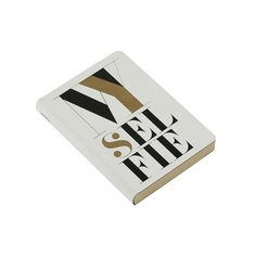 """Discover the Nuuna """"My Selfie"""" Leather Notebook - White at Amara"""