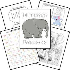 Free Elephant Unit Study & Lapbook