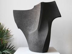 Negro J Sculpture by Sophie-Elizabeth Thompson - OEN Shop Abstract Sculpture, Sculpture Art, Geometric Sculpture, Ceramic Sculptures, Hips And Curves, Mid Century Art, Contemporary Sculpture, African American Hairstyles, Ceramic Art