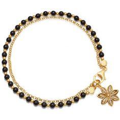 Bohemian Beaded Bracelets Double Deck Simple Flower Charm Chain Bracelets for Women Crystal Bracelets, Crystal Beads, Chain Bracelets, Link Bracelets, Jewelry Bracelets, Jewellery, Shell Bracelet, Bracelet Sizes, Bracelet Charms