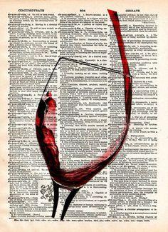 Book Page Art, Book Art, Art Du Vin, Journal D'art, Splash Art, Color Splash, Pouring Wine, Newspaper Art, Newspaper Painting