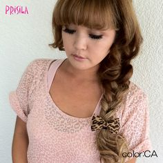 【10/1発売】レオパード柄☆リボンポニーXA-0499  I like the braid...might be able to do it with my wigs