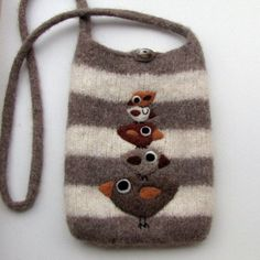 felted bags | Adorable!