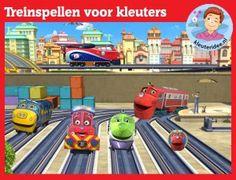 Vier treinspellen voor kleuters op digibord of computer op kleuteridee, Kindergarten educative train games for IBW or computer
