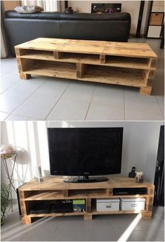 This is a complete awe inspiring looking wood pallet creation that is a remarkable option to add in your house right now. This whole creation media table set is highlighting out the portions of the shelf divisions over the bottom side. It would add an elegant image to your living room or the lounge areas.