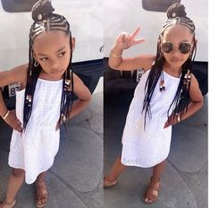 Perfect Kids Hairstyles For Summer Days - Braids Hairstyles for Black Kids Little Girl Braids, Black Girl Braids, Braids For Kids, Girls Braids, Kid Braids, Braids Cornrows, Tree Braids, Fulani Braids, Baby Girl Hairstyles