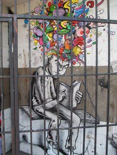 internet cage global street art